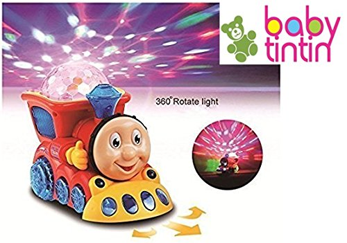 Babytintin™ Bump and Go Musical Engine Train with 4D Light and Sound for Toy for Kids-4