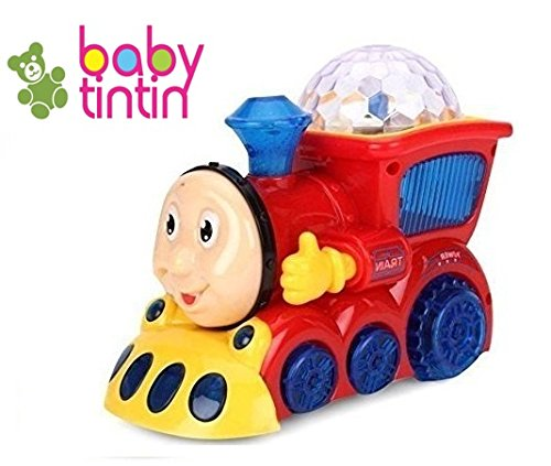 Babytintin™ Bump and Go Musical Engine Train with 4D Light and Sound for Toy for Kids-5