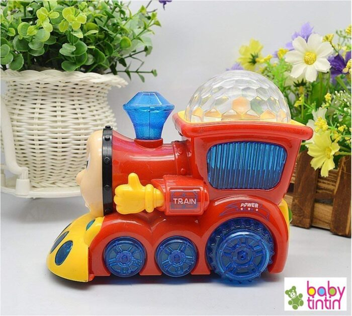 Babytintin™ Bump and Go Musical Engine Train with 4D Light and Sound for Toy for Kids-2