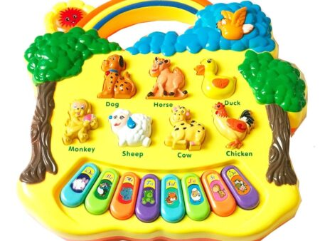 Animal Farm Musical Piano Toy - Multicolor-3