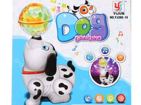TOYVALA Cute Dancing Dog Toy with Reflected 3D Lights & Wonderful Music for Kids, Battery operated, Multicolor-3