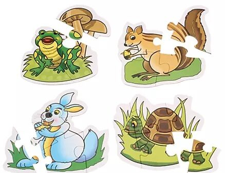 Creative Early Puzzles 4 Shaped Animal Puzzles-4