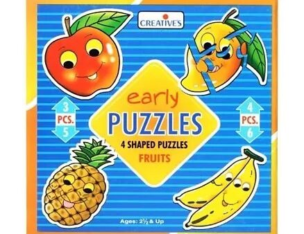 Creative's - Early Puzzles - 4 Shaped Puzzles Fruits-5