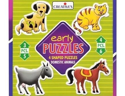 Creative's - Early Puzzles - 4 Shaped Puzzles Domestic Animals-6
