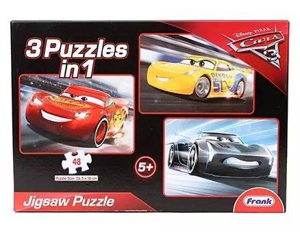 Disney Pixar Cars 3 In 1 Jigsaw Puzzle - 144 Pieces-5