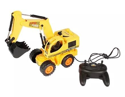 Planet of Toys Wire Control Construction Truck Shovel Loader - Yellow-4