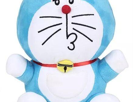 Doraemon Naughty Plush Soft Toy Blue - Height 25 cm-5