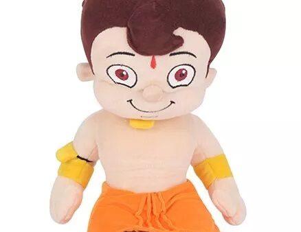 Chhota Bheem Plush Toy Sitting Multi Color - 30 cm-5