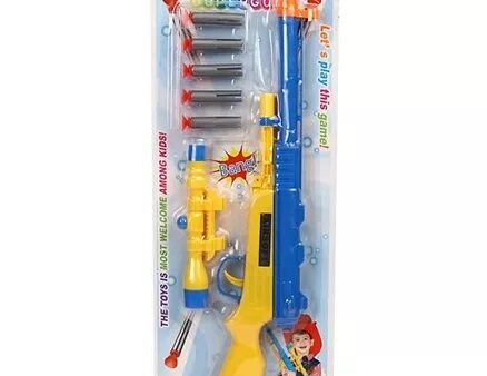 Dr. Toy Soft Dart Gun - Blue & Yellow-3