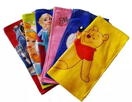 Sassoon Disney Printed Cotton Face Towel Set of 6 With Gift Box- Multicolor-3