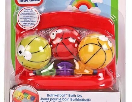 Little Tikes Little Champs Bathketball - Red & Yellow-3