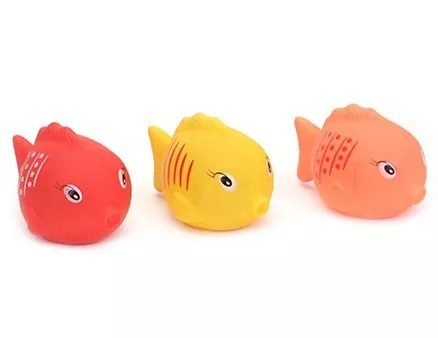 Ratnas Squeaky Toys Fish Shape 3 Pieces (Color May Vary)-23