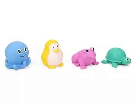 Giggles Aqua Animal Squeakers Bath Toy Pack Of 4 (Color May Vary)-15