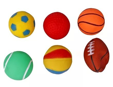 Ratnas Squeezy Ball Bath Toys Pack of 6 - Multicolour-4