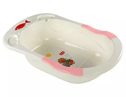 LuvLap Bathtub Baby & Kitty Print - White Pink-7