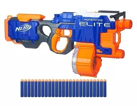 Nerf N Strike Hyperfire Toy Gun - Blue Orange-5