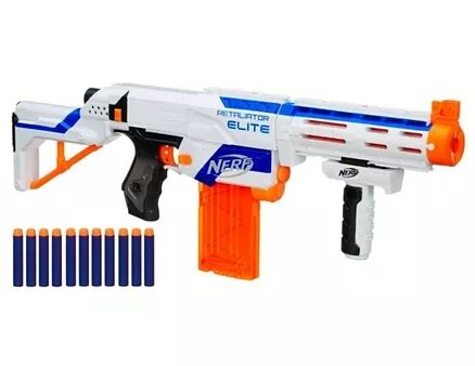 Nerf Elite Retaliator Blaster - Blue & Orange-11