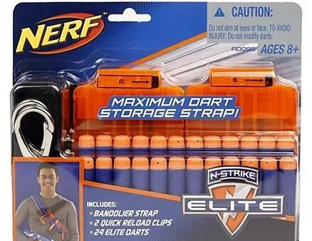 Nerf Strike Elite Bandolier Kit Dart Game - Orange-3