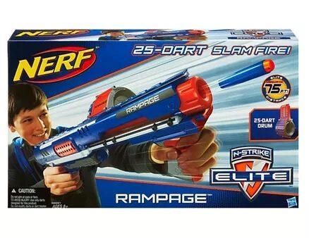 Nerf N-Strike Elite Rampage Blaster With 25 Darts - Blue Orange-9