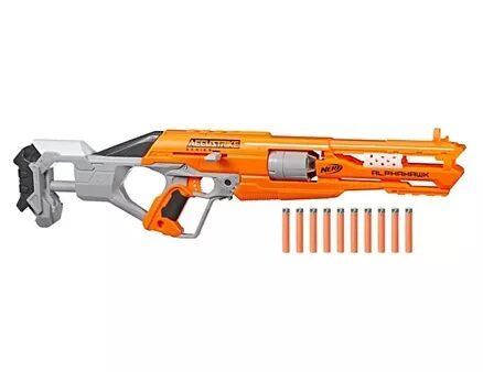 Nerf N Strike Elite Accustrike Series Alphahawk Blaster Dart Gun - Yellow-17