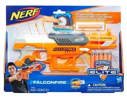 Nerf N Strike Falcon Fire Gun With Darts - Orange-6