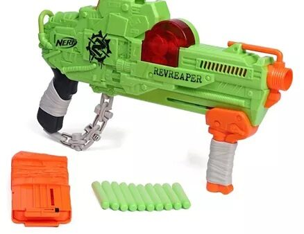 Nerf Zombie Revreaper With Darts - Green-9