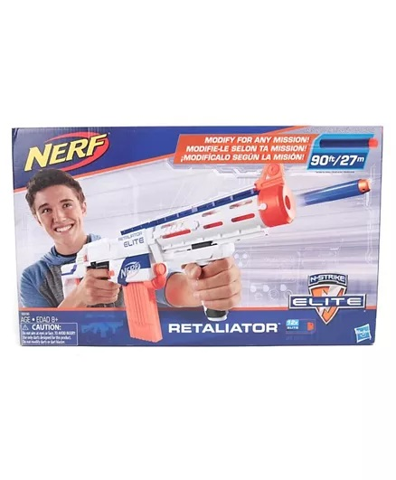 Nerf Elite Retaliator Blaster - Blue & Orange-2