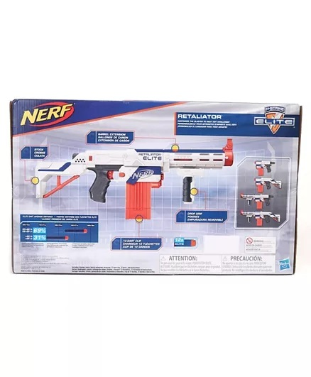 Nerf Elite Retaliator Blaster - Blue & Orange-1