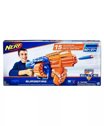 Nerf N-Strike Surgefire Dart Gun - Blue Orange-6