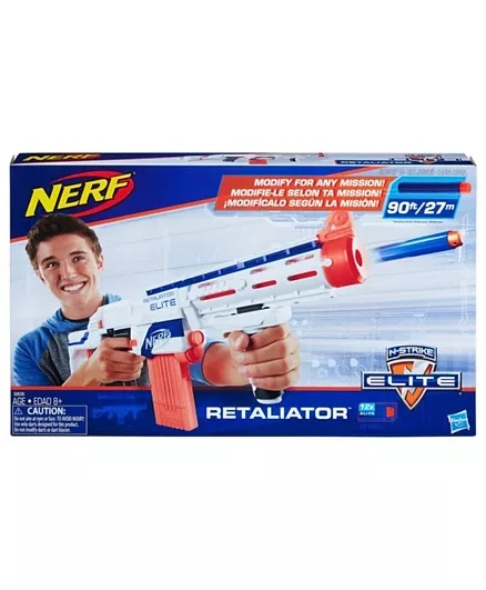 Nerf Elite Retaliator Blaster - Blue & Orange-10