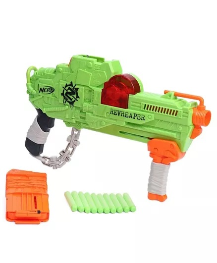 Nerf Zombie Revreaper With Darts - Green-8