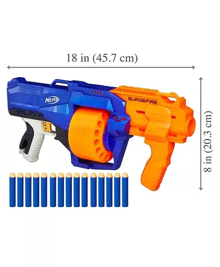 Nerf N-Strike Surgefire Dart Gun - Blue Orange-5