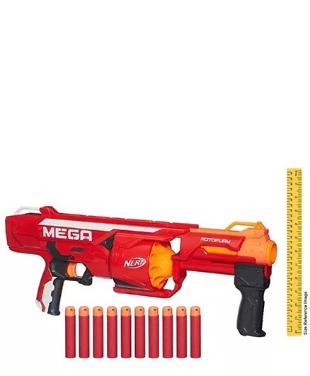 Nerf Nstrike Mega Rotofury Toy Gun - Red-4