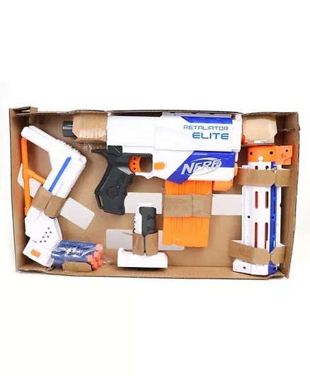 Nerf Elite Retaliator Blaster - Blue & Orange-3